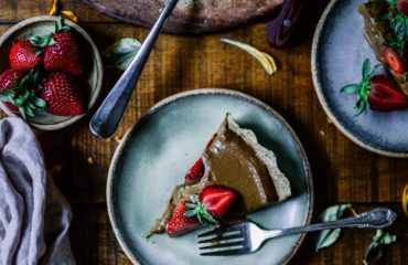 Шоколадно-творожный пирог с кокосовой стружкой