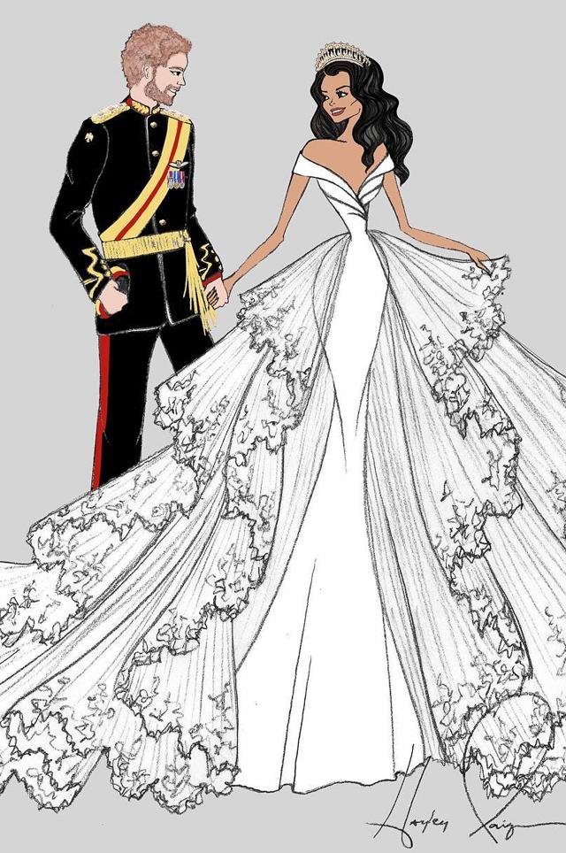 c7513ebede0 Каким будет свадебное платье Меган Маркл  эксклюзивные эскизы - LeMonade