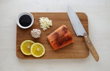 Cемга в соево-медовом соусе