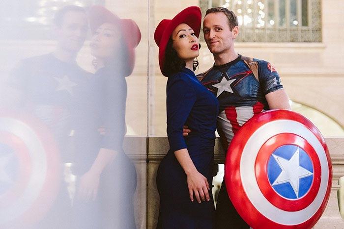 Как сделать свадьбу необычной: забавная фотоистория пары из Нью-Йорка