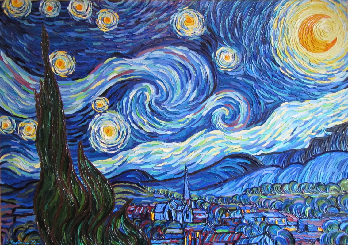 Moma Vincent Van Gogh The Starry Night 1889 - HD1135×800