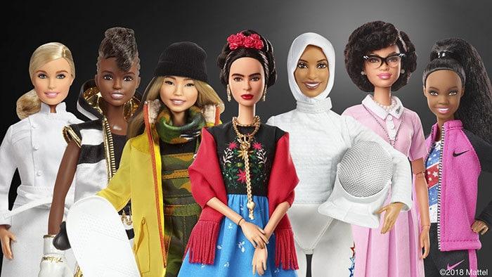 Барби создали серию кукол, посвященную известным женщинам