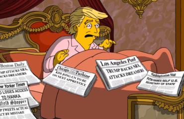 """""""Симпсоны"""" показали главные страхи Дональда Трампа"""
