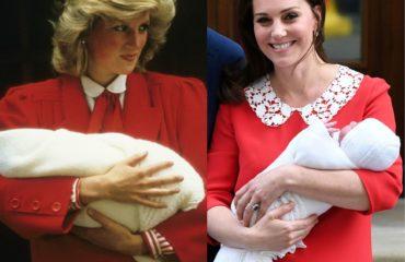 На выписку из роддома Кейт Миддлтон выбрала наряд, как у принцессы Дианы