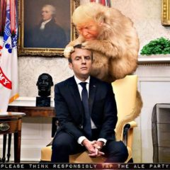 """""""У вас тут перхоть"""": Трамп и Макрон стали героями мемов"""