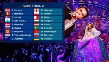 """""""Евровидение 2018"""" второй полуфинал: видео выступлений всех участников"""