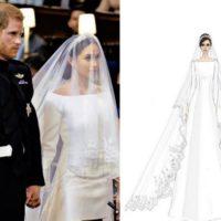 Дизайнера свадебного платья Меган Маркл обвинили в плагиате