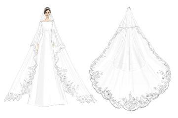 Модный дом Givenchy показал официальные эскизы свадебного платья Меган Маркл