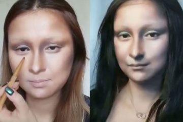 Чудеса макияжа: блогер превратила себя в Мона Лизу Леонардо да Винчи