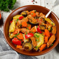 Рагу из кабачков с картофелем
