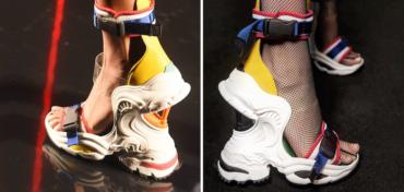 Коллаборация кроссовок и босоножек: в Милане презентовали необычную обувь