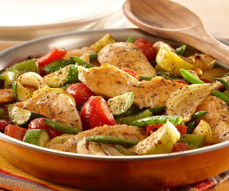 Китайская кухня: курица с овощами
