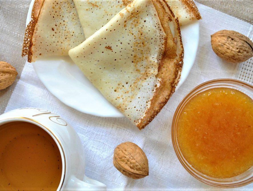 Идея для завтрака: сладкие веганские блины без яиц