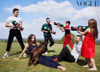 Виктория Бекхэм с детьми появилась на обложке Vogue British