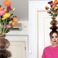 Ваза из волос: в Instagram набирает популярности новый тренд