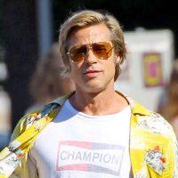Дерзкий и молодой: папарацци засняли Брэда Питта на съемках нового фильма Квентина Тарантино