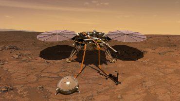 NASA показало первый снимок с марсианского зонда InSight