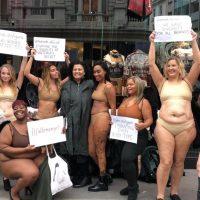 """""""Падшие ангелы"""": британки в белье протестовали против стандартов модной индустрии"""