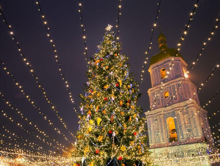 Первая в Европе: новогоднюю елку в Киеве признали самой красивой