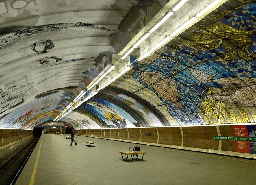Галерея современного искусства: станцию метро в Киеве разрисовали 8 художников