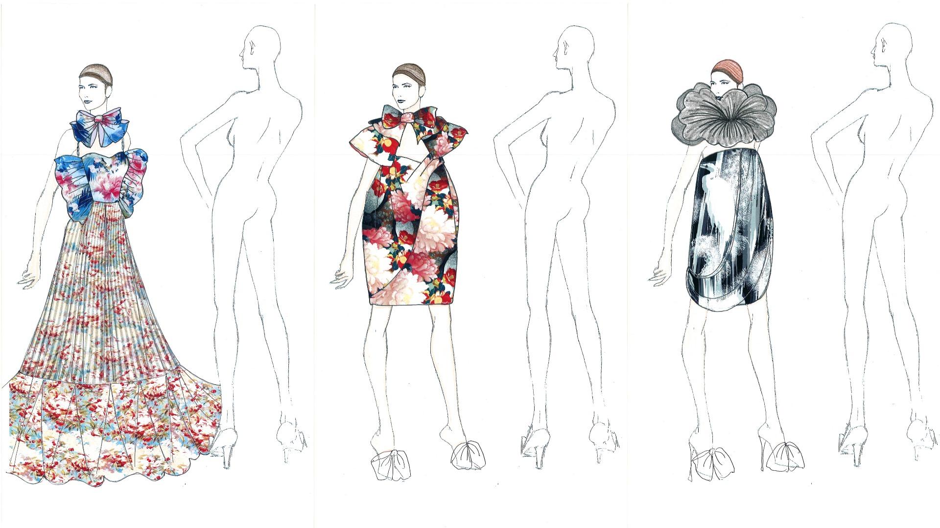 YUMI KATSURA показала эксклюзивные эскизы коллекции для Couture Fashion Week в Париже