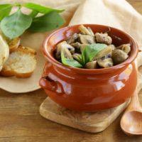 Рецепт приготовления рагу из телятины с шампиньонами