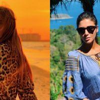 Слава Каминская на пляже и патриотическая Санта Димопулос: лучшие образы украинских звезд за неделю