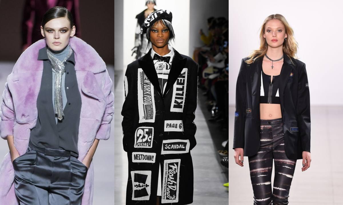 """""""Газетная бумага"""", глубокие оттенки и топы-жилетки: как стартовала Неделя моды в Нью-Йорке"""