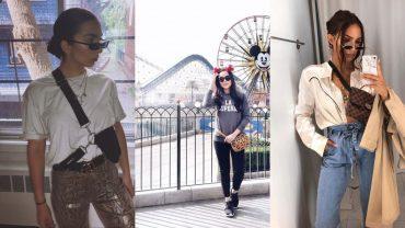 Как носить поясную сумку: стильные луки на каждый день