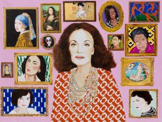 От Опры до Клеопатры: художница создала коллекцию портретов для бренда Diane von Furstenberg