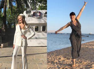 Осадчая в белом, а Ребрик в горошек: лучшие наряды украинских звезд за неделю