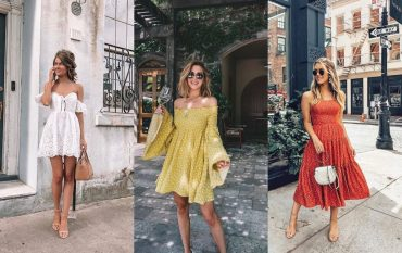 Гид по fashion: как носить платье с открытыми плечами