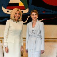 Встреча первых леди: Бриджит Макрон и Елена Зеленская восхитили элегантными образами в Париже
