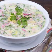 Летний рецепт: легкая вегетарианская окрошка