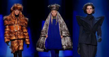 Елочные украшения и шапки-ушанки: Жан-Поль Готье представил кутюрную колекцию