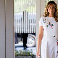 Меланья Трамп очаровала гостей Белого дома брючным костюмом от Dior