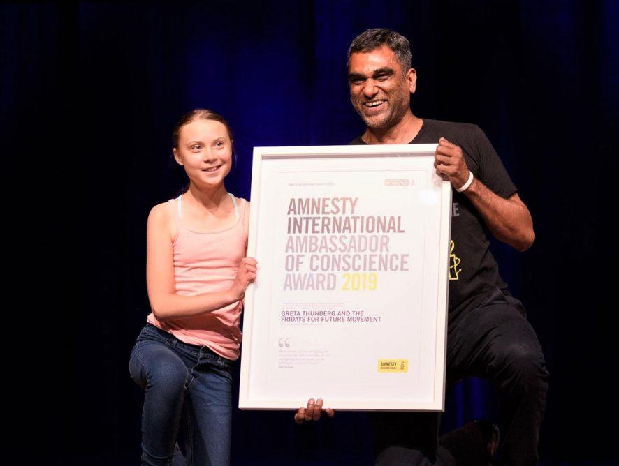 Посол совести: шестнадцатилетняя эко-активистка получила награду Amnesty International