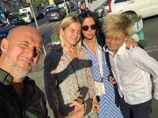 День знаний: Потап, Пономарев и Alyosha проводили своих чад в школу