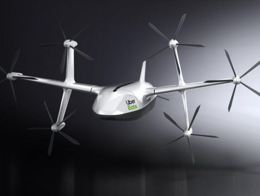 Uber представил дрон для доставки еды