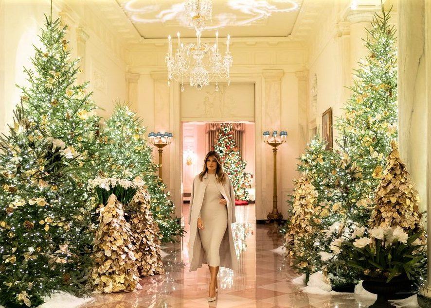 Меланья Трамп преобразила Белый дом к Рождеству