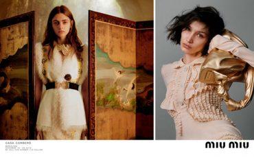 Белла Хадид предстала в роли художницы в кампейне Miu Miu