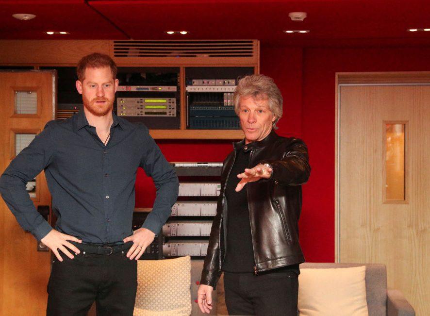 Принц Гарри и Бон Джови запишут вместе песню Unbroken