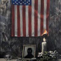 Новая работа Бэнкси: художник отреагировал на протесты в США