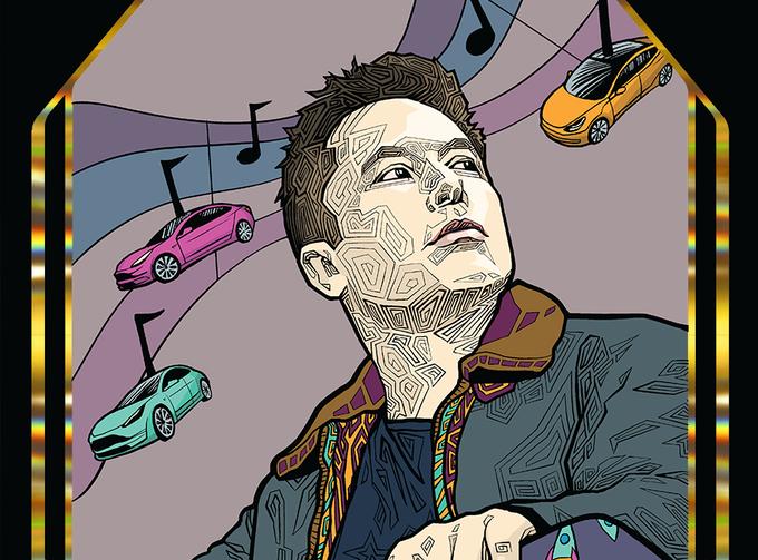 Иллюстратор из США хочет создать раскраску из твитов Илона Маска