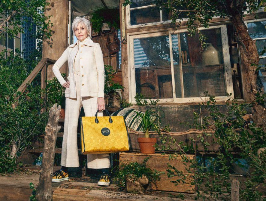 Джейн Фонда снялась в рекламной кампании гендерно-нейтральной коллекции Gucci