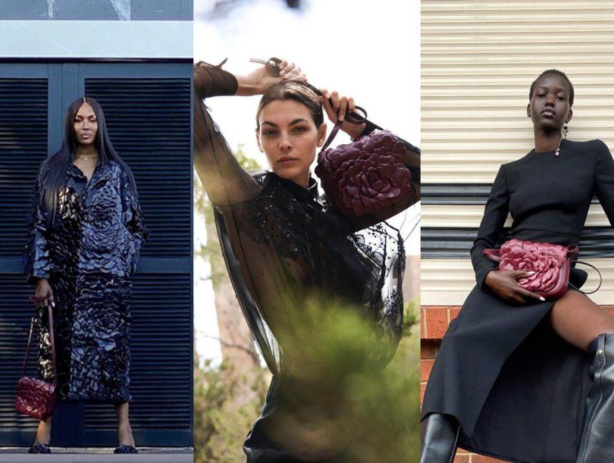 Адут Акеч, Виттория Черетти и Наоми Кэмпбелл снялись в рекламной кампании Valentino