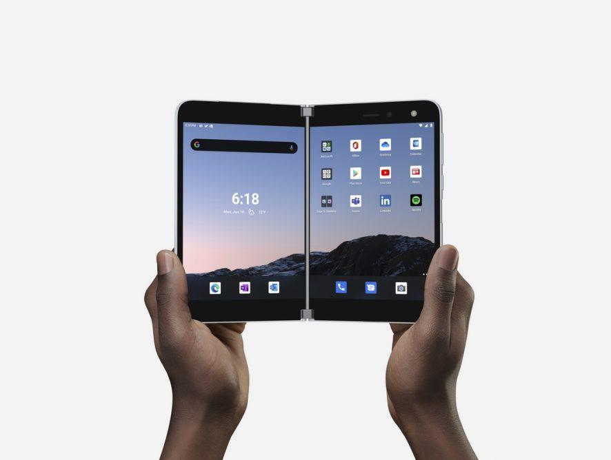 Компания Microsoft объявила о выпуске смартфона Surface Duo с двумя экранами