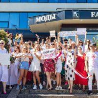 Модный митинг: в Белоруссии сотрудники fashion-индустрии присоединились к протестам