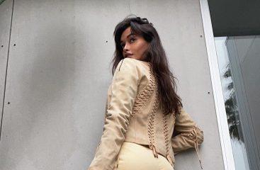 Жизель Оливейра очаровала винтажными вещами и лимонной сумочкой