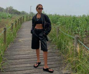 Оверсайз жакет и кюлоты: София Коэльо показала look свидания на природе
